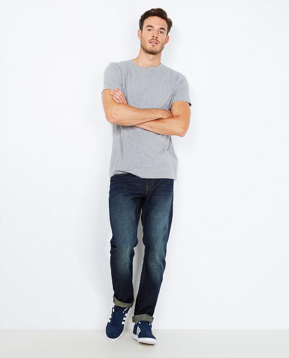 Donkerblauwe jeans - regular fit - Quarterback